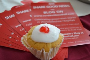 Cakes always prompt good news!