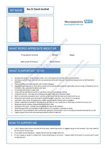 One Page Profile (click to enlarge)